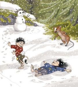 6. Det snöar